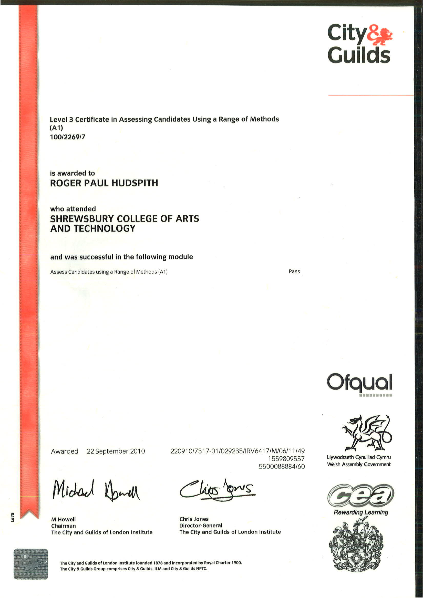 level 3 certificate in assessing Assessment city & guilds level 3 certificate in assessing vocational achievement these qualifications are part of the award & certificate in training, assessment.