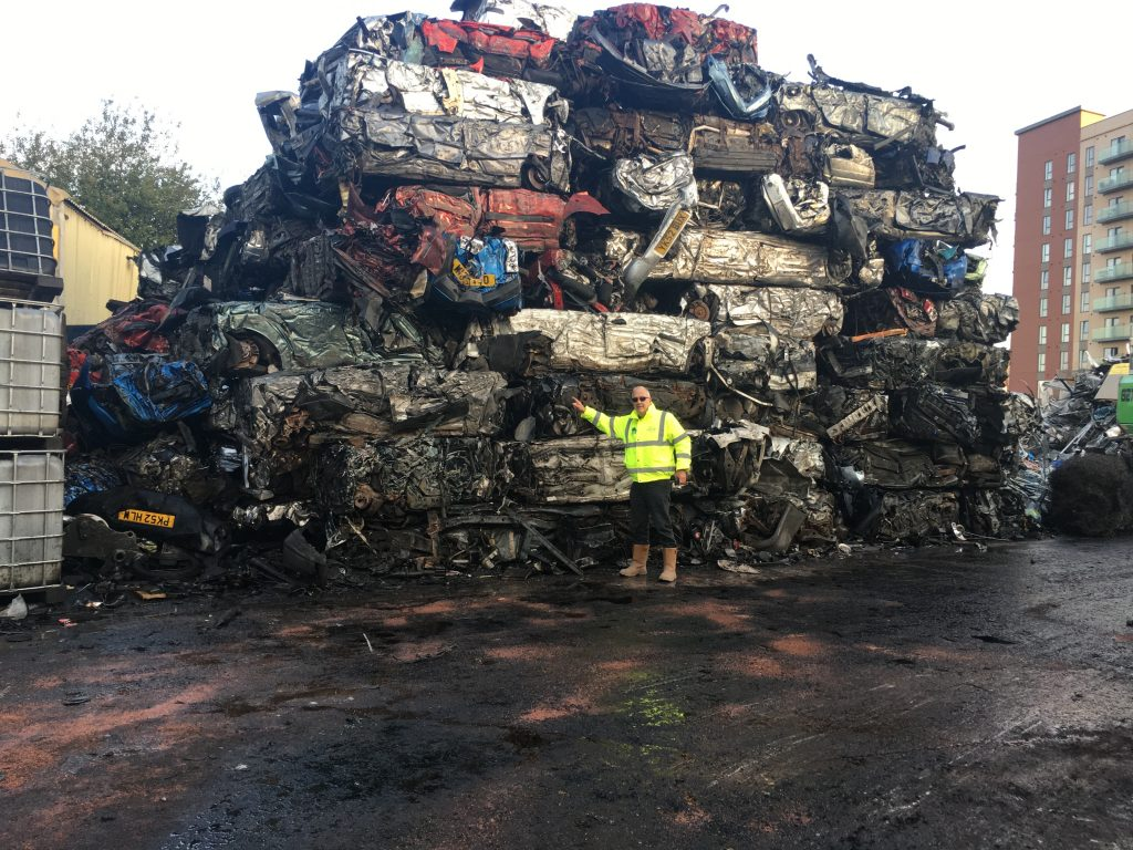 Scrap Metal Baled cars