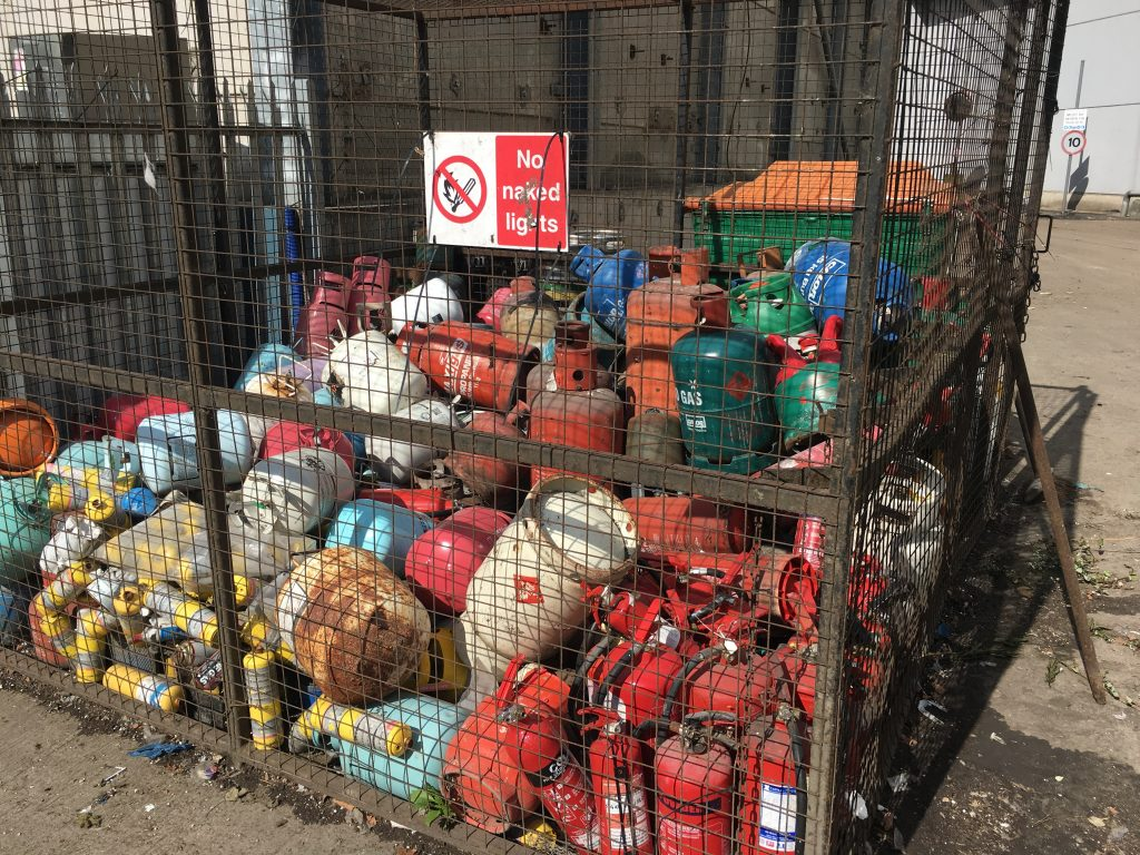 Hazardous Waste, gas canisters