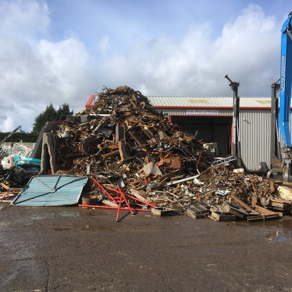 Scrap waste, heap of scrap metal